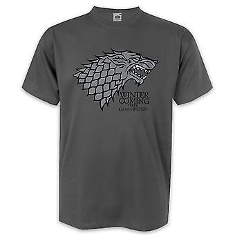 Gioco di inverno di t-shirt troni è venuta Casa Stark