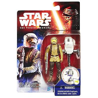 Star Wars The Force weckt 3,75 Inch Figur Space Mission Widerstand Trooper