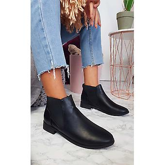 IKRUSH Womens Ivy Faux Leather Ankle Boots