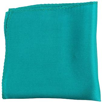 Knightsbridge Neckwear Fine Silk Pocket Square - Turqiouse