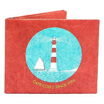 Papírový úschovna maják tenká peněženka-červená/modrá