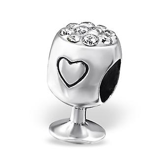 Weinglas - 925 Sterling Silber jeweled Perlen - W25118x