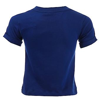 Bambino ragazzi adidas Originals Eqt T-Shirt In Blue-Short Sleeve-Ribbed collo-