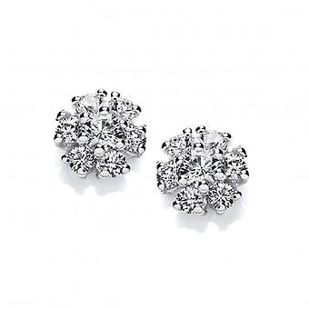 Cavendish French Cubic Zirconia Cluster Earrings