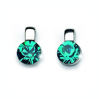 Oliver Weber Post Earring Beat Rhodium, Blue Zircon