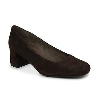 Liberitae Salon Salon shoes tip square suede Chocolate 21719451-05