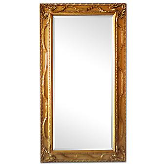 Amazing mirror in gold, outer dimensions 57x107 cm