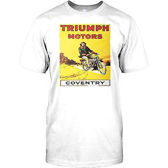 Triumph Motors retro Poster-Classic Bike Miesten T-paita