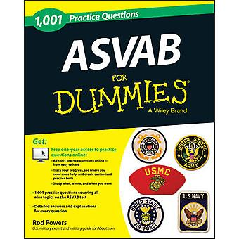 1 -001 ASVAB Practice Questions For Dummies by Rod Powers - 978111864