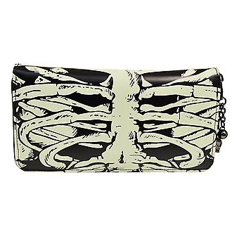 Banned Glow In The Dark Skeleton Ribcage Wallet