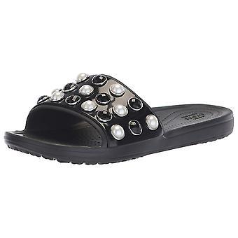 Crocs kvinnors Sloane tidlös pärla Slide Sandal