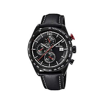 Festina watch Chronograph quartz men's watch with leather F20344/3