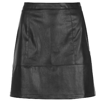 Rock and Rags Womens PU Shine Skirt Mini Zip