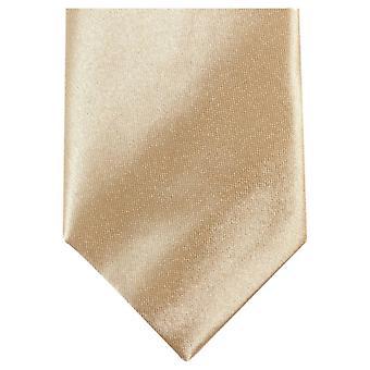 Knightsbridge Neckwear Slim Polyester Tie - Light Gold