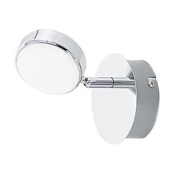Eglo - Salto Chrome verstelbare LED Single vlek licht montage EG95628
