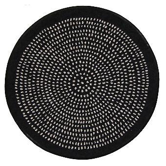 Estera del piso del salón León redondo Nestor redondo negro 65 cm suciedad lavable mat