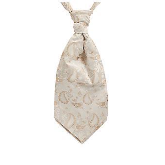 Dobell gutter krem Paisley silke Cravat pre knyttet
