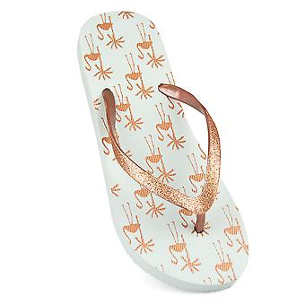 Sandrocks Womens/Ladies Tropical Flamingo Flip Flops