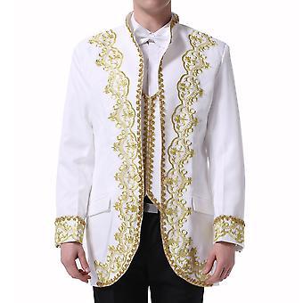 Tuta da smoking da uomo di allthemen vestito da Corte ricamato 3 pezzi giacca & Pants & Vest