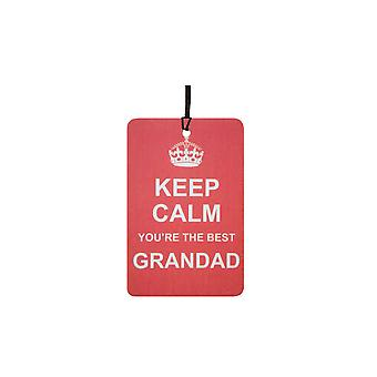 Keep Calm You're The Best Grandad Car Air Freshener