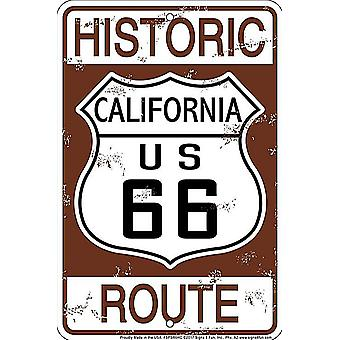 Historic Route 66 California aluminium sign 300mm x 200mm (sf)