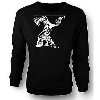 Mens Sweatshirt Breakdancing Hip Hop - BW