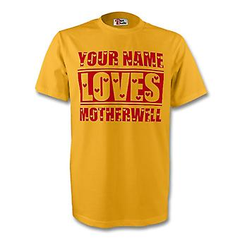 Ваше имя любит Мотеруэлл футболку (желтый)