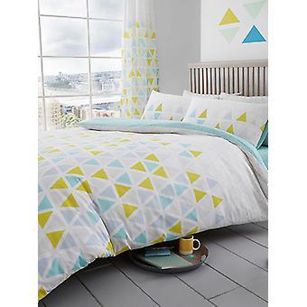 Triangolo geometrico Duvet Cover e Pillowcase Set