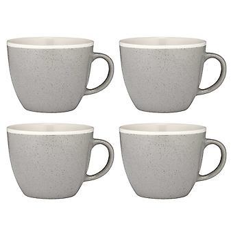 Ladelle Geva Set of 4 Mugs, Grey Speckle