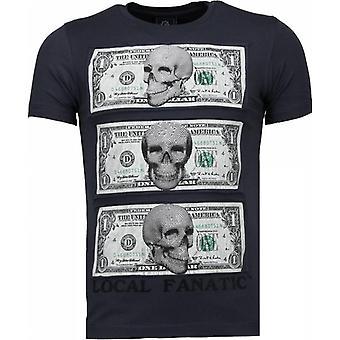Better Have My Money-Rhinestone T-shirt-dark grey