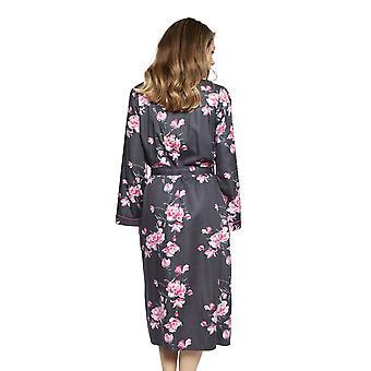 Cyberjammies 4249 Kobiety's Lola Grey Mix Floral Cotton Long Robe