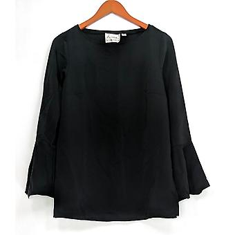 Linea by Louis Dell'Olio Women's Top (XXS) Pullover Blouse Black A302549