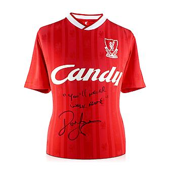 John Barnes Signed Liverpool Football Shirt 1988-89: YNWA.