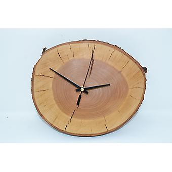 Wood wall clock wood clock clock 26 x 23 cm cherry cherry cherry tree tree tree slice dim wood clock handmade unique handmade made in Austria gift gift idea wood decoration wood decoration