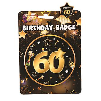 Bristol Novelty 60th Birthday Badge