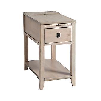 Brown patton 1-drawer chairsider in driftwood finish stein world