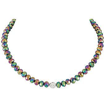 Eternal Collection majestetiske Rainbow Crystal statement beaded halskjede