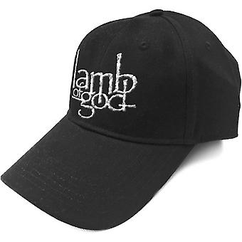 Lamb Of God Baseball Cap Band Logo Sonic Silver new Official Black Strapback