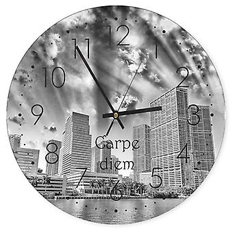 Decorative Clock With Picture, Carpe Diem