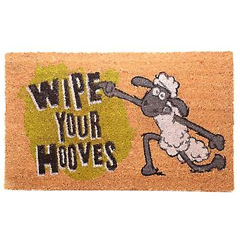 Coir Door Mat - Shaun the Sheep Wipe Your Hooves
