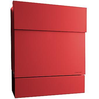 RADIUS-brievenbus Letterman 5 rood met de rol van de krant 561r