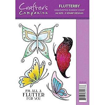 Sparkle by Spectrum Noir A6 Rubber Stamp - Flutterby Stamp