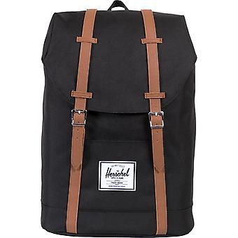 Herschel Supply Co Retreat Straps Backpack Rucksack Bag Black 92