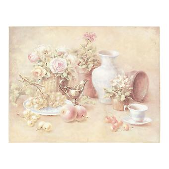 Clayre & Eef Romantic Picture Still Life Living Room Pastel Colors Shabby Vintage Style approx. 45x35x3 cm