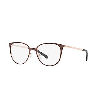 Michael Kors Lil MK3017 1188 Satin Brown-Rose Gold-Tone Glasses
