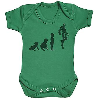 Baby Evolution To A Iron Man - Baby Bodysuit