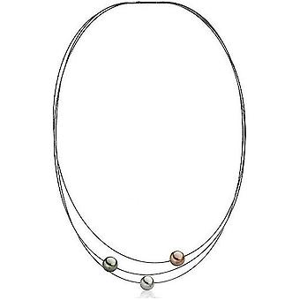 Luna-Pearls Beads Choker TahitiPerlen 9-10 mm Steel 3001235