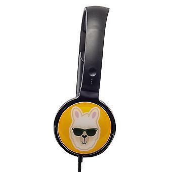 グルーフ-e EarMoji'sステレオヘッドフォン - クールラマ(モデルNo.GVEMJ18)