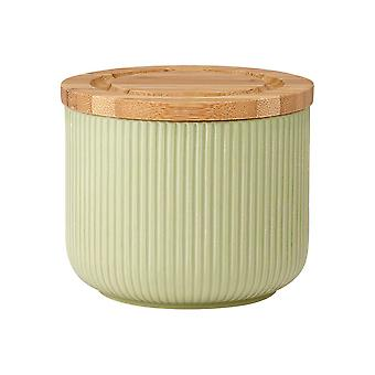 Ladelle Stak Textured Sage Canister, 9cm