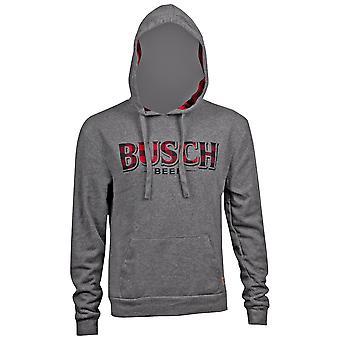 Μπους ' s γκρι φανέλα λογότυπο φούτερ με κουκούλα